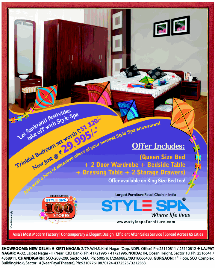 Stylespa Furniture New Home Offer Mumbai New Delhi Bangalore Saleraja