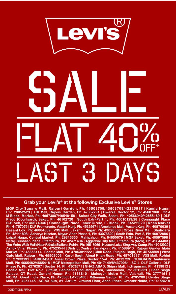 Levi's - Flat 40% Off