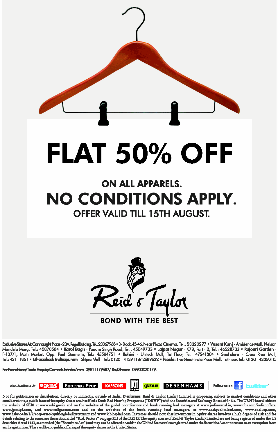 Red Tape - Flat  50% Off
