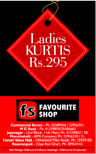 Favourite Shop - Ladies Kurtis @ Rs.299/-