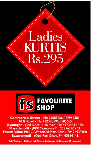 Favourite Shop - Ladies Kurtis @ Rs.299/-