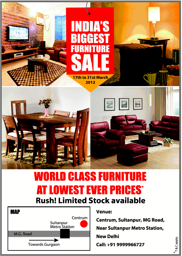 centrum india 39 s biggest furniture sale new delhi