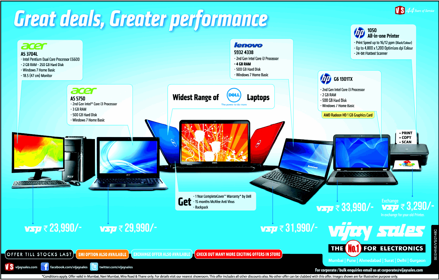 Vijay Sales - Offers on Laptops