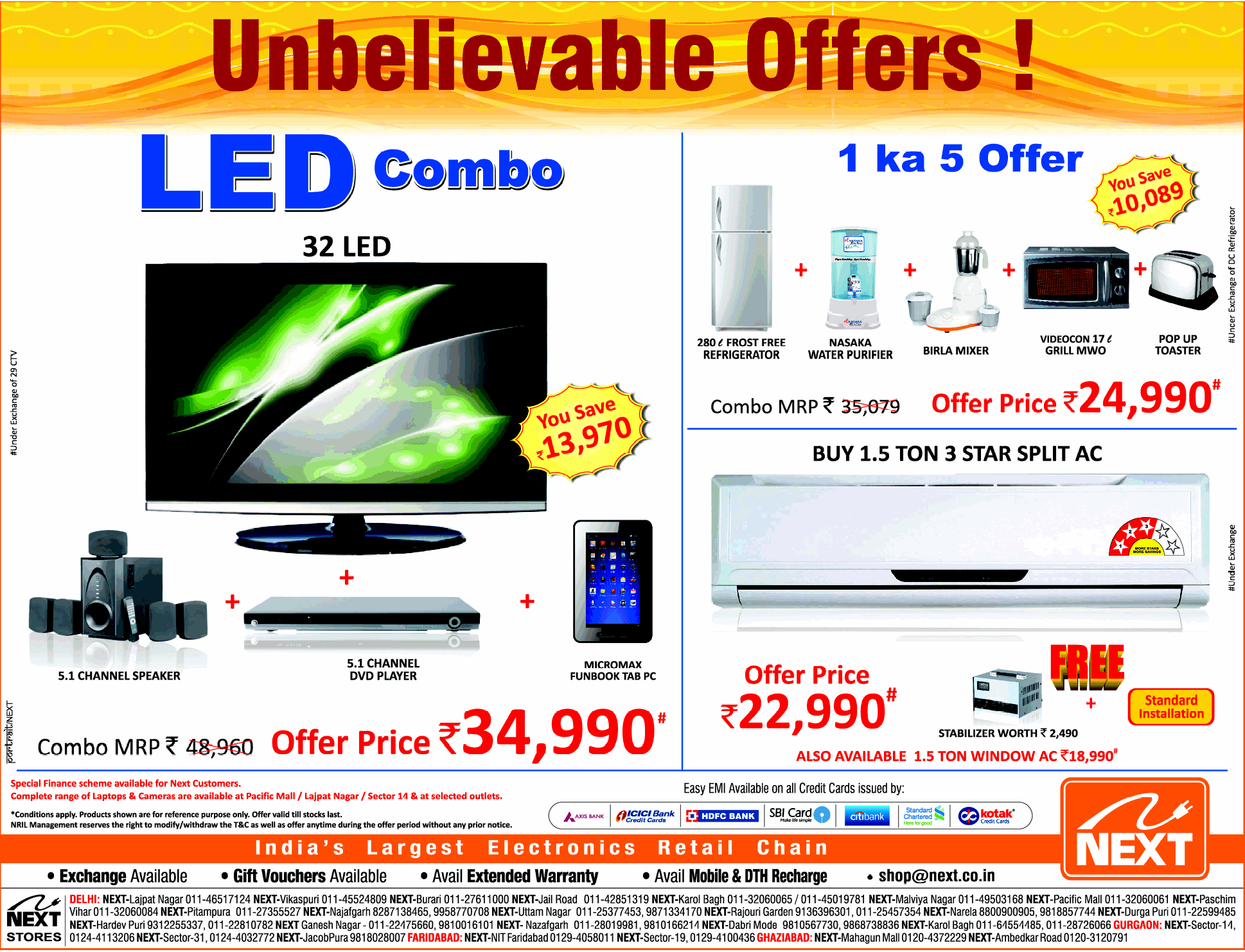 Next Electronics - Unbelievable Offers