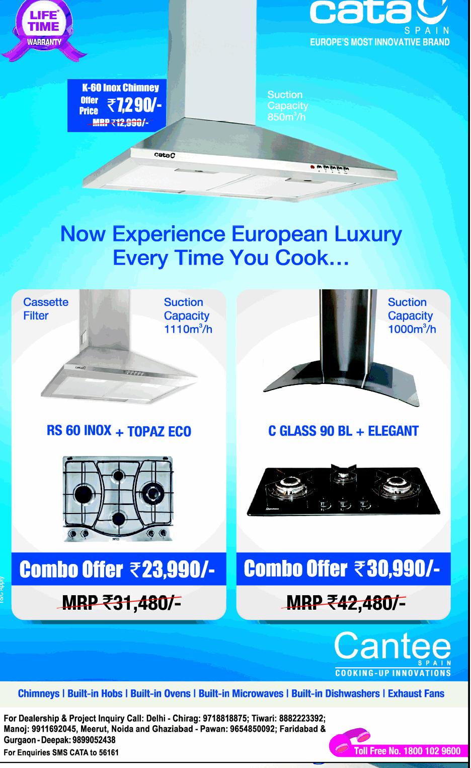 Cata Spain Chimneys - Combo Offers / New Delhi   SaleRaja