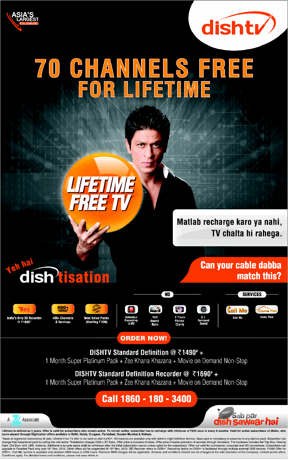 Dish TV - Lifetime Free TV