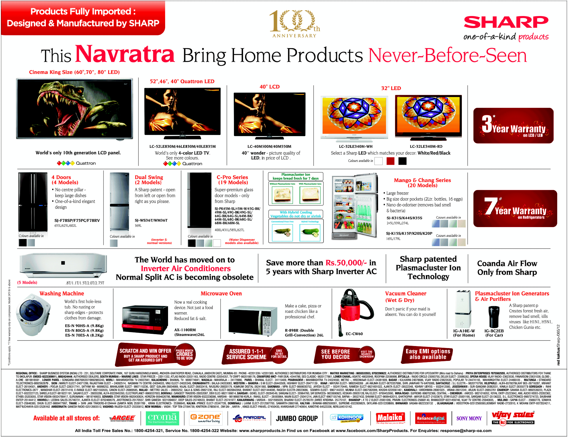 Sharp Products - Never Before Offer
