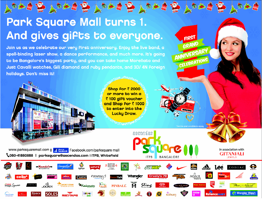 Park Square Mall - Win Free Gift & Lucky Draw / Bangalore
