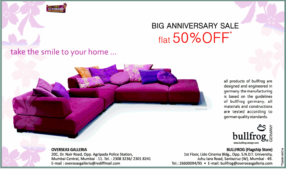 Bullfrog Sofas Germany Home