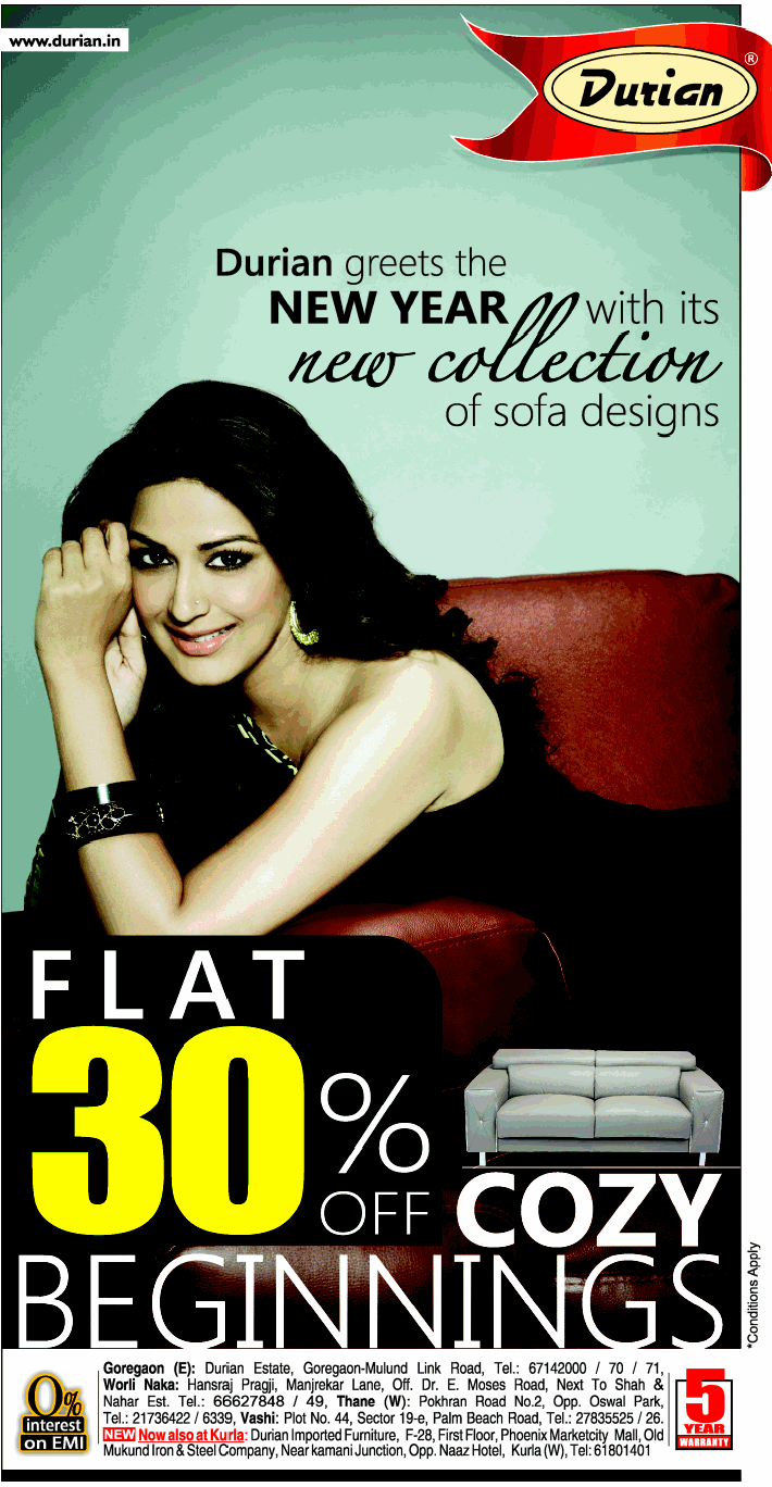 Durian Furniture - Flat 30% Off