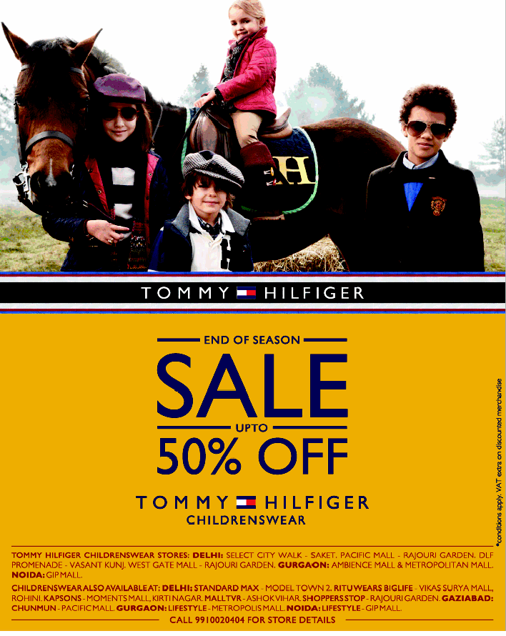 tommy hilfiger end of season sale upto 50 off mumbai new delhi. Black Bedroom Furniture Sets. Home Design Ideas