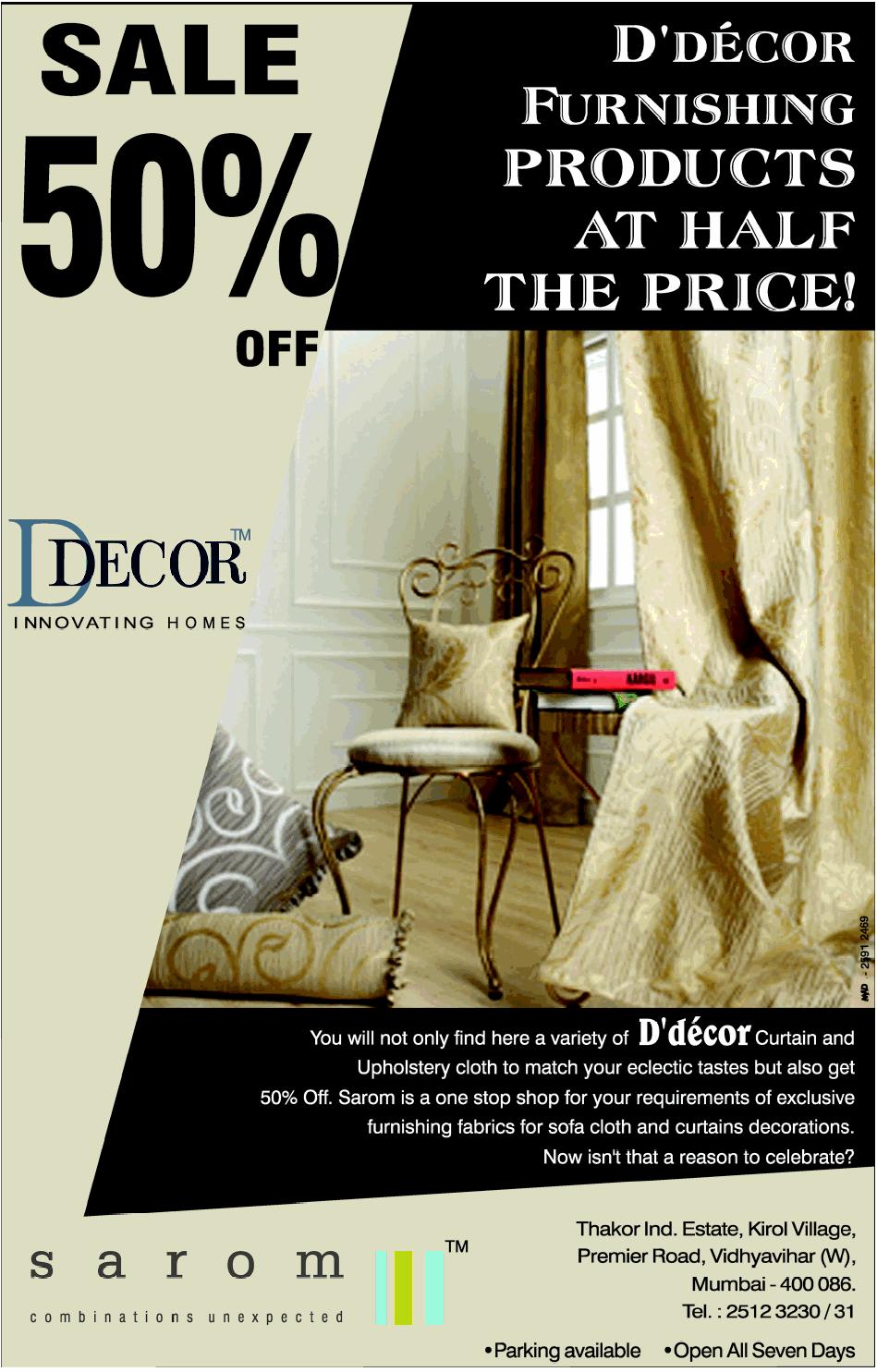D decor furnishings sale 50 off mumbai saleraja for D deco