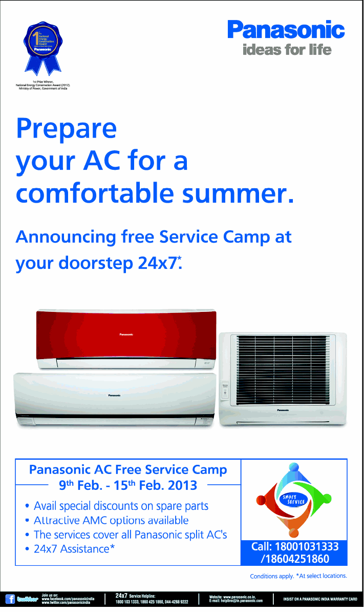 Panasonic Air Conditioners - Free Service Camp