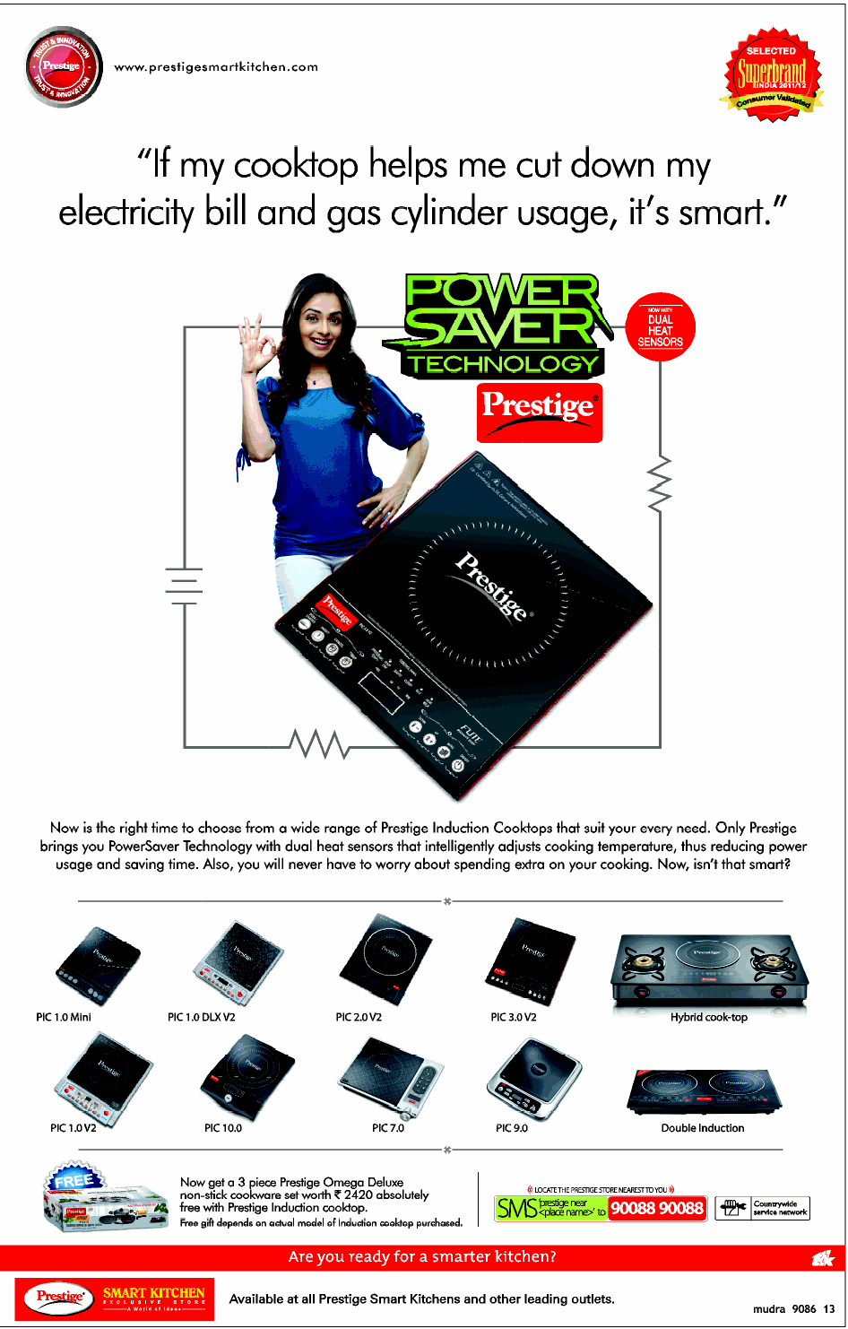 Prestige Induction Cooktop - Free 3 Pc Non stick cookware / Mumbai ...