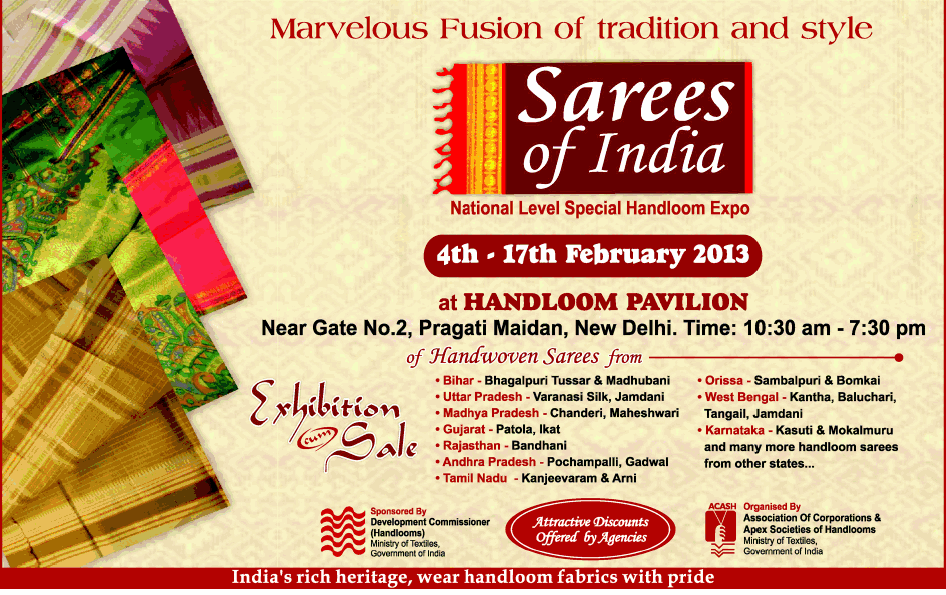 Sarees of india exhibition cum sale new delhi saleraja sarees of india exhibition cum sale stopboris Image collections