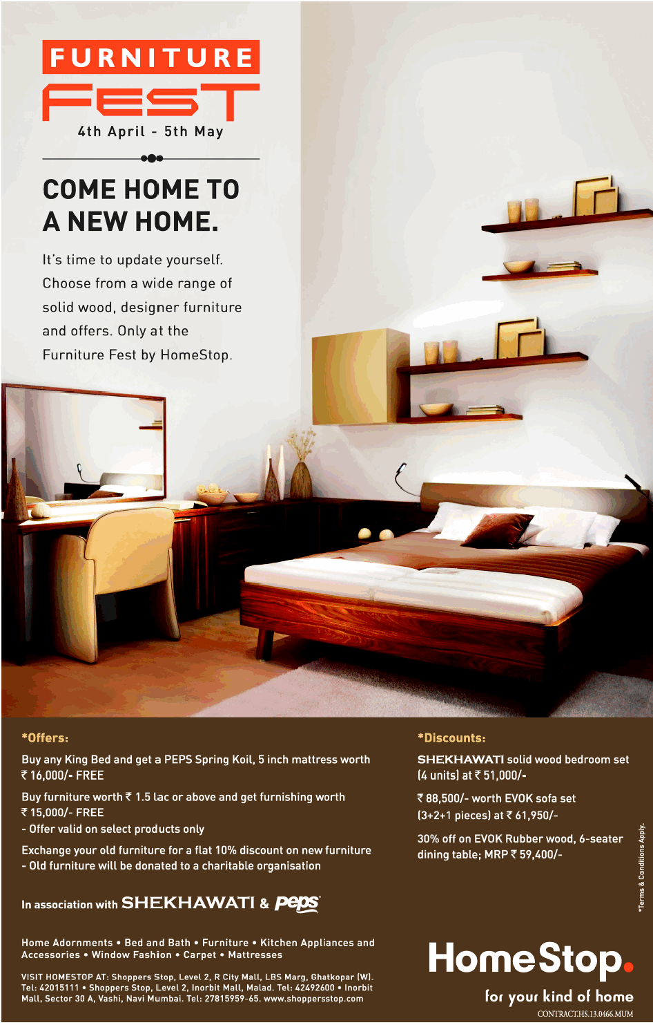 home stop furniture fest mumbai saleraja