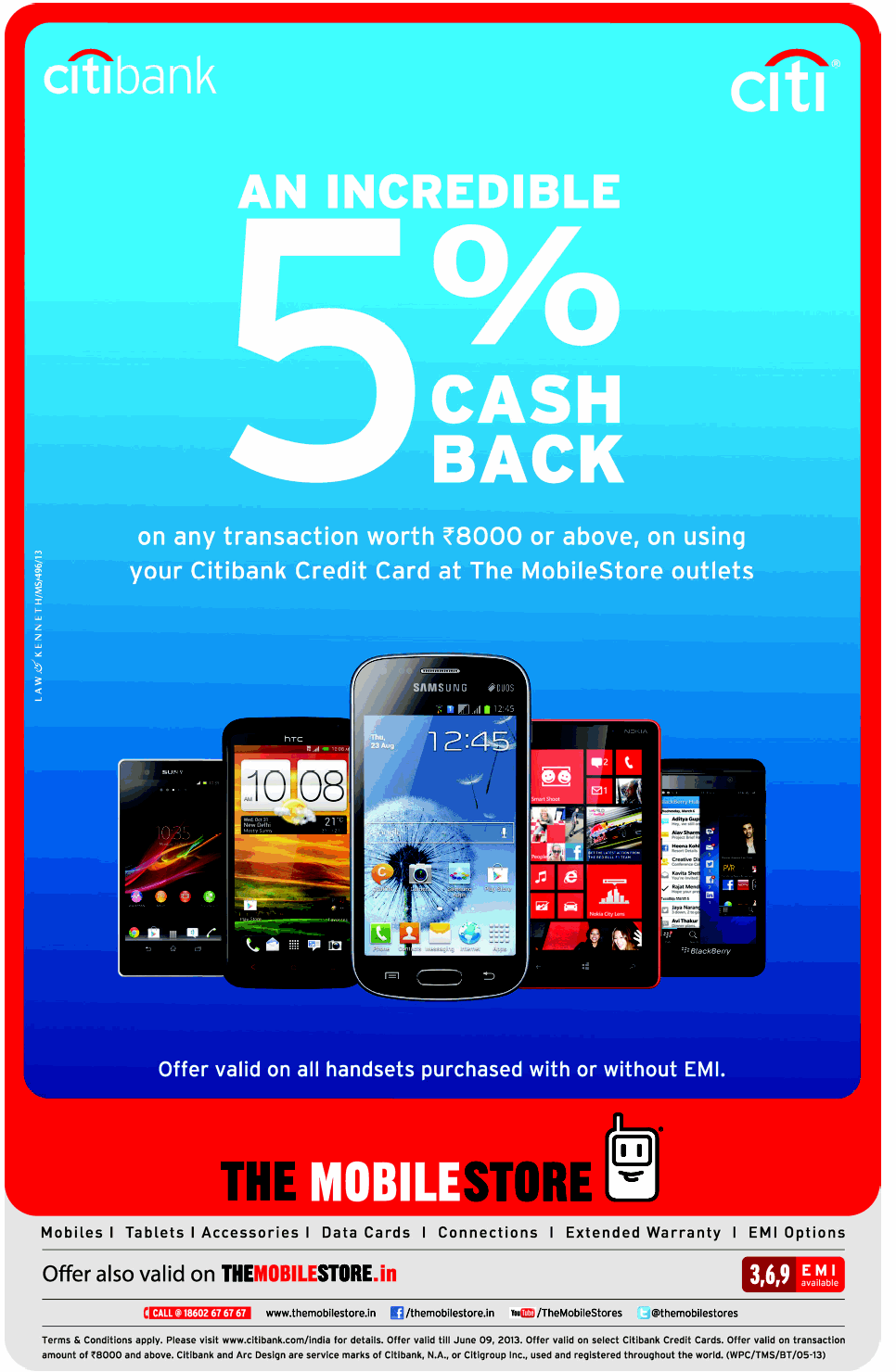The Mobile Store - 5% Cash Back Offer
