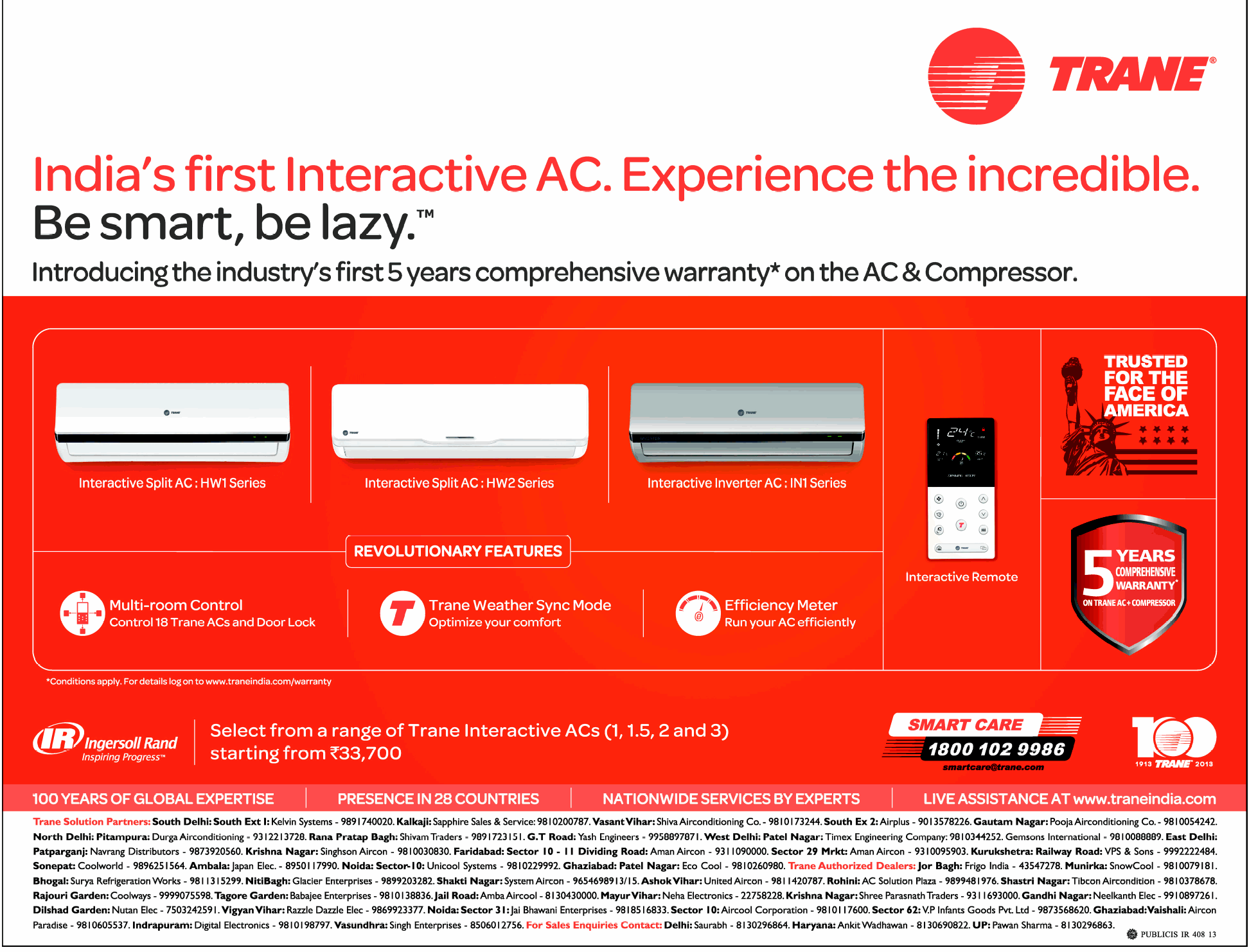 Trane Ac 5 Years Comprehensive Warranty New Delhi
