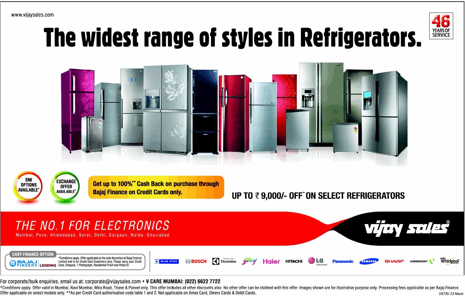 Vijay Sales - Offers on Refrigerators