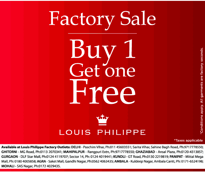 Louis Philippe Sale - Buy 1 Get 1 Free