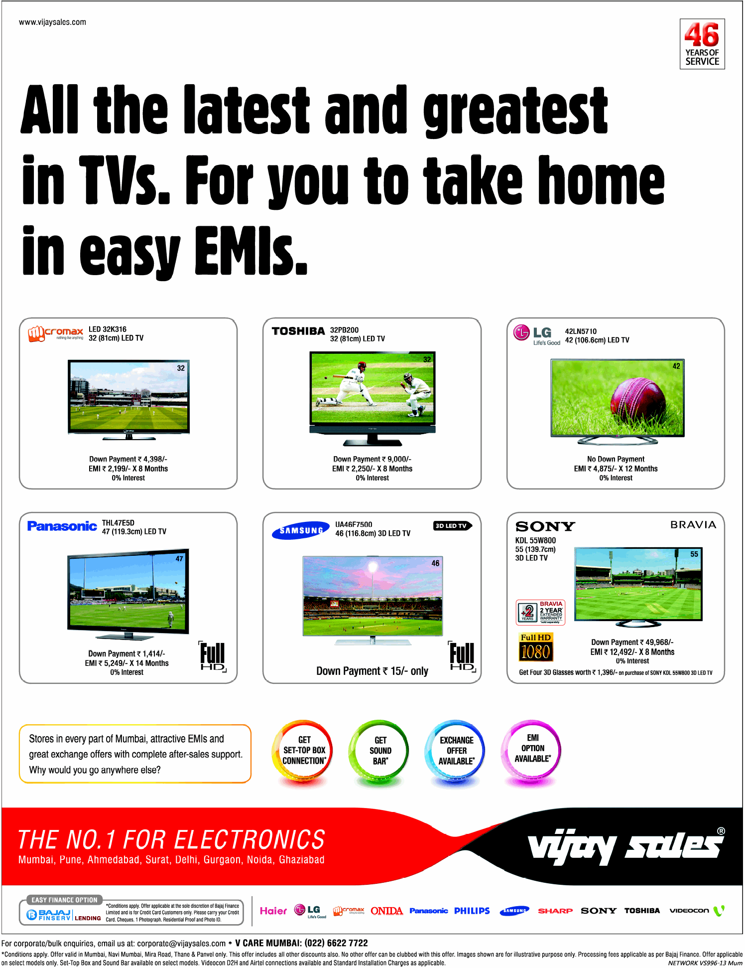 Vijay Sales - Offers on LCD/LED TV