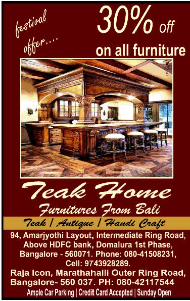 Teak Home Furniture 30 Off Bangalore Saleraja