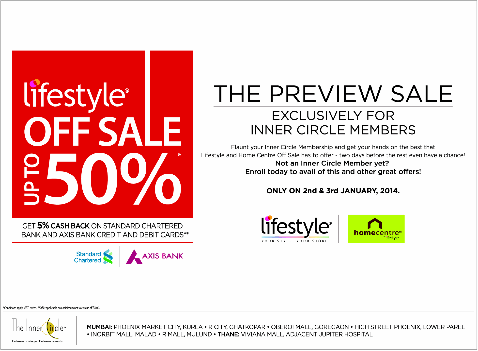 LifeStyle - Upto 50% Off