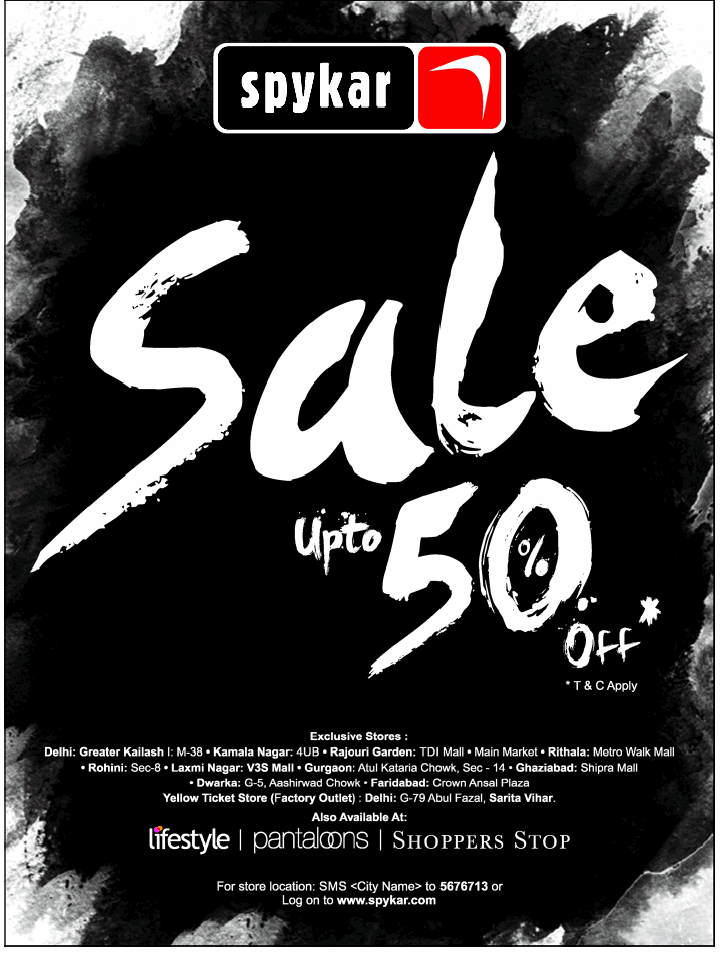 Spykar - Upto 50% off