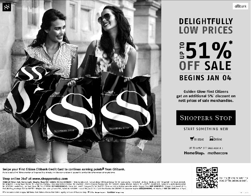 Shoppers Stop - Upto 51% Off