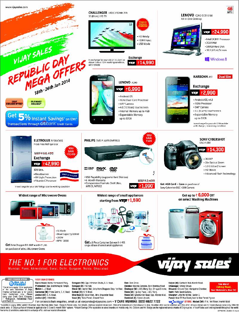 a5747c34bb2 Vijay Sales - Republic Day Mega Offers   Mumbai