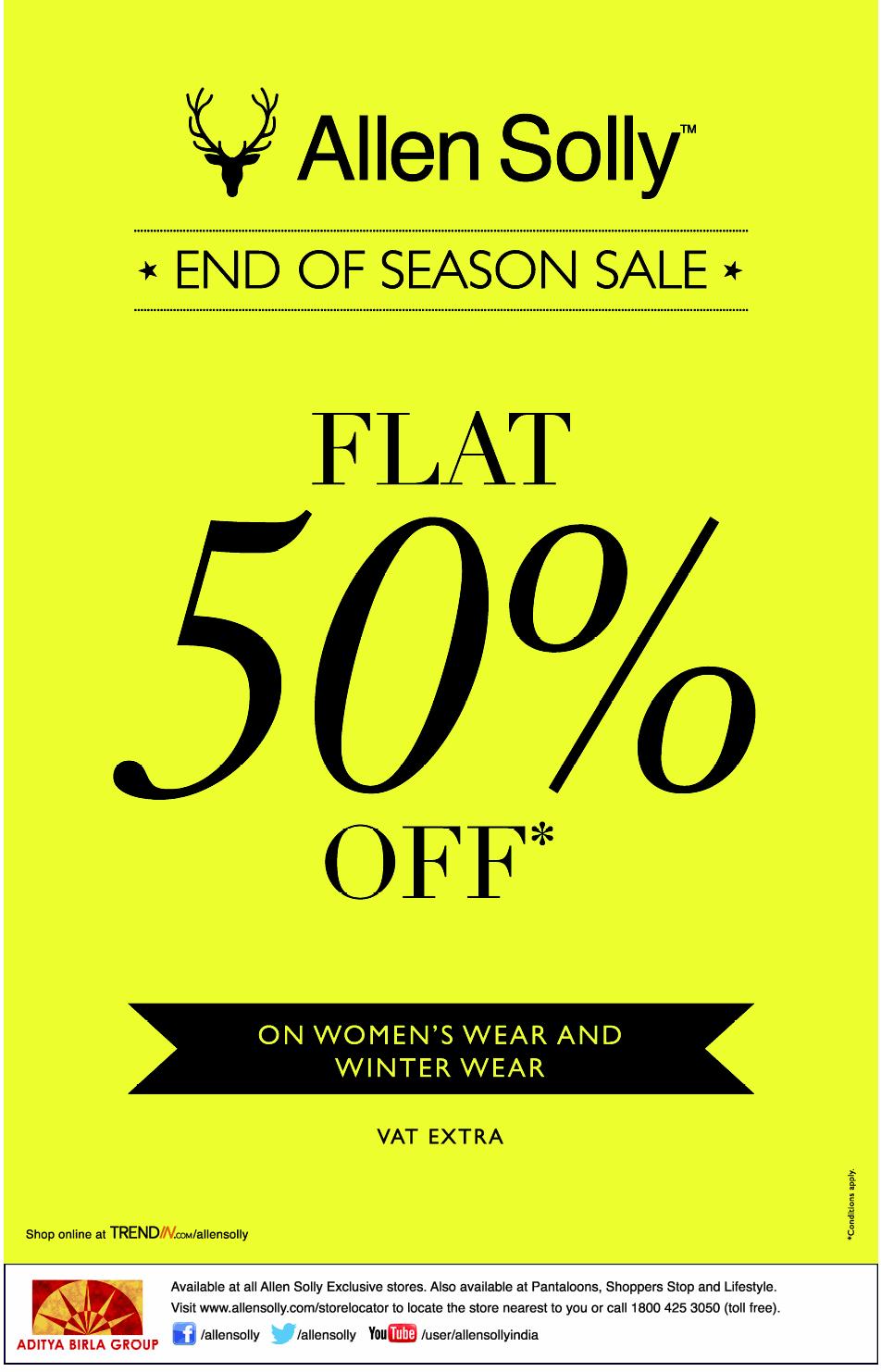 Allen Solly - Flat 50% Off