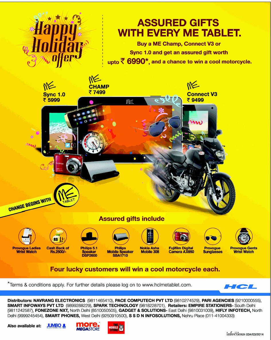 HCL ME Tablet - Happy Holiday Offer