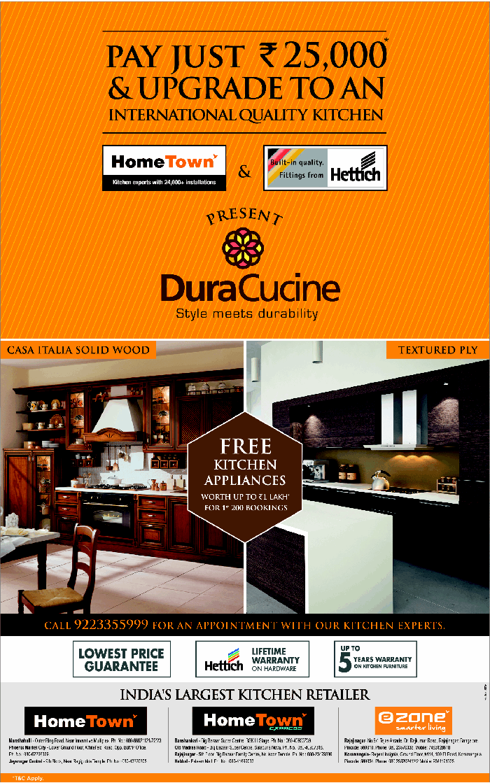 HomeTown - Unbelievable Deals on Modular Kitchens / Mumbai