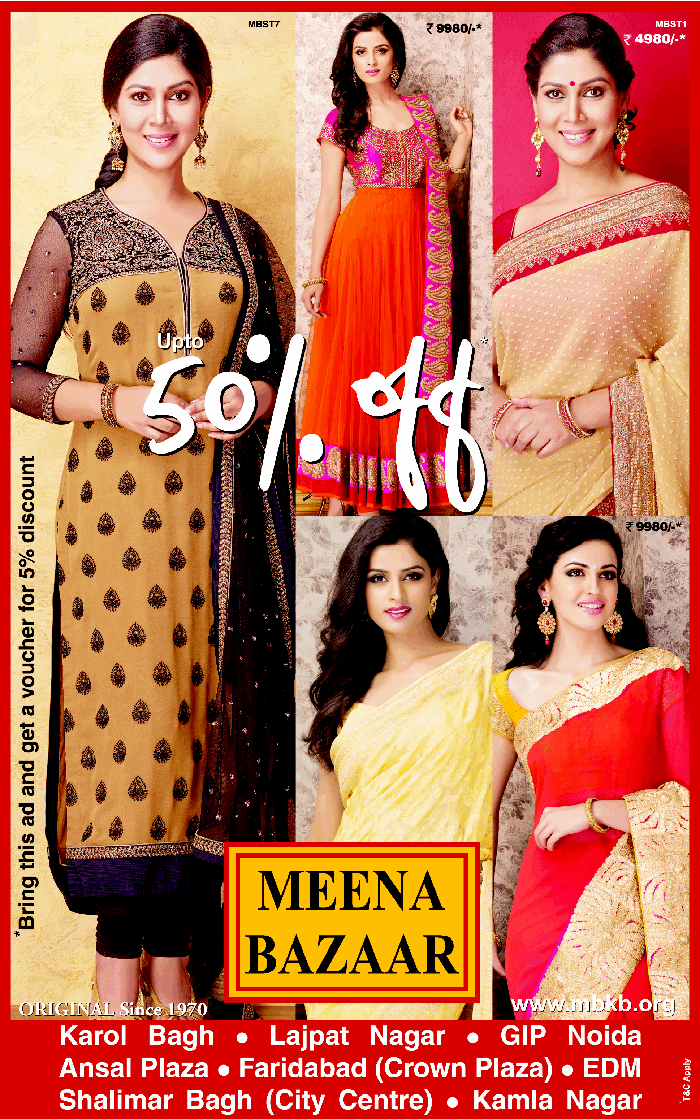 MEENA BAZAAR ( Original since 1970) - Upto 50% Off