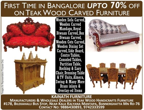 Kainath furniture upto 70 off bangalore saleraja for Furniture 70 off