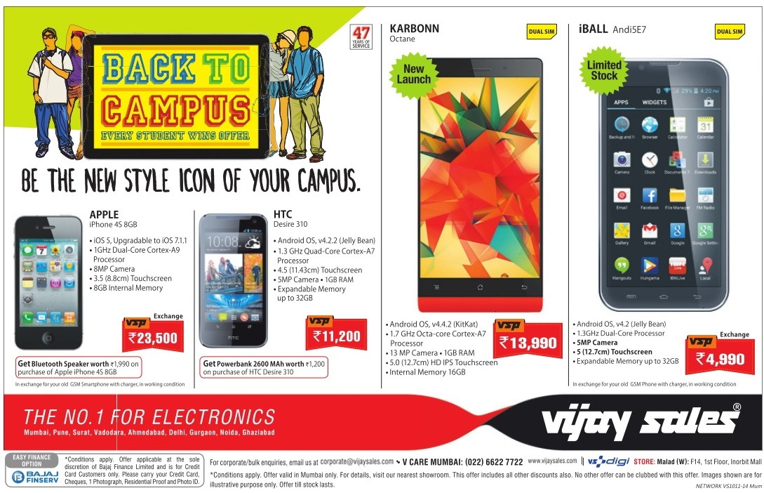 Vijay Sales - Offers on Mobiles