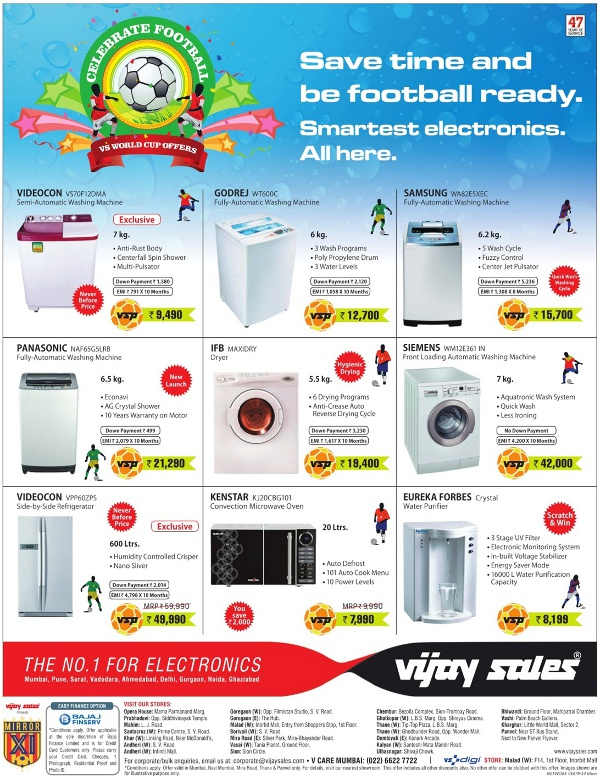 Vijay Sales - Offers on Washing Machines