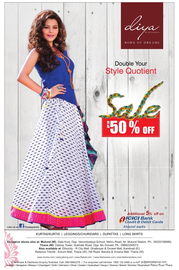 Diya by Gitanjali Lifestyle - Upto 50% Off