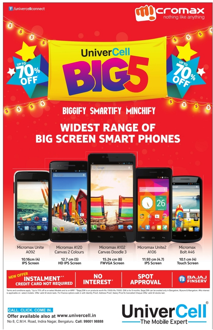 UniverCell - Widest Range of Smart Phones