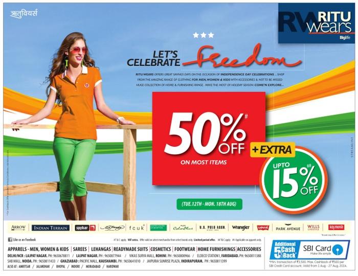 Ritu Wears Big Life - Celebrate Freedom