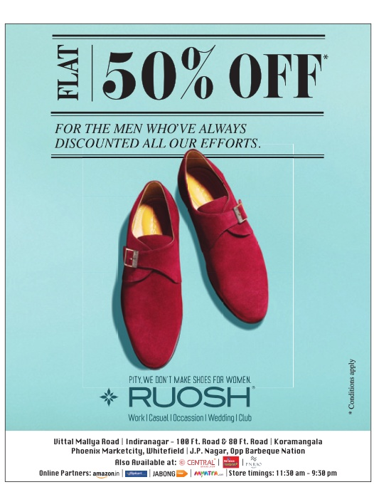 Ruosh shoes showroom in delhi