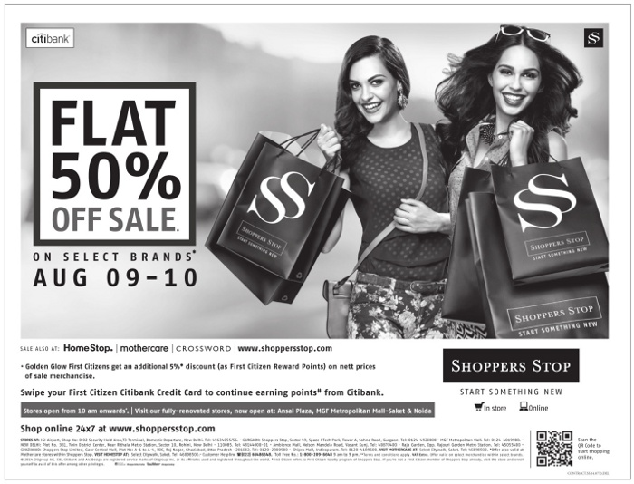 Shoppers Stop - Upto 50% Off Sale