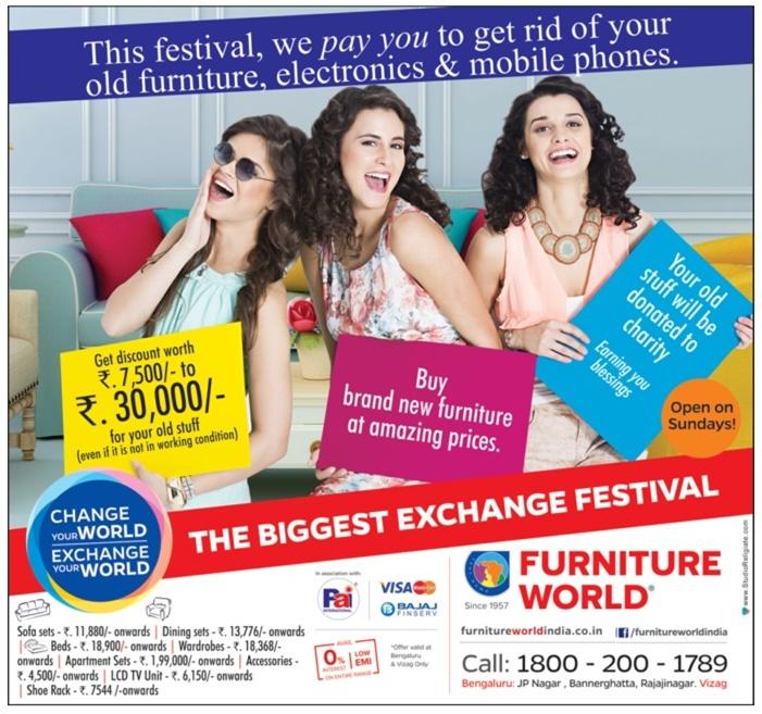 Furniture World Bigget Exchange Festival Bangalore