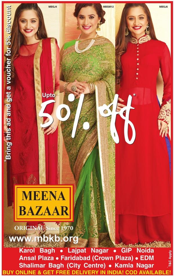 MEENA BAZAAR ( Original since 1970) - Upto 50% Off
