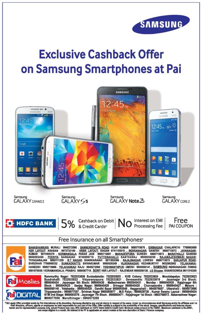 Pai International Electonics - Offers on Samsung Smart Phones