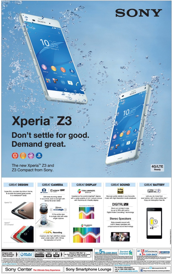 Sony Xperia Smartphone - Attractive Offers