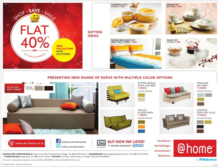 At Home - Flat 40% Off