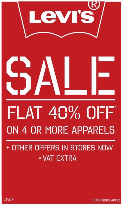 Levis - Flat 40% Off
