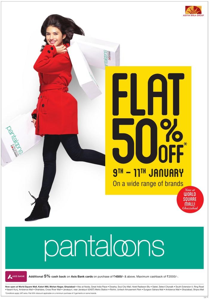 Pantaloons - Flat 50% Off