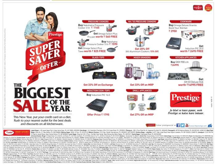 Prestige Kitchen Appliances - Super Saver Offer